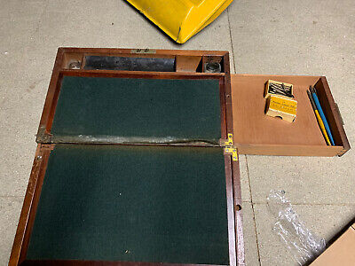 Beautiful Antique / Vintage Writing Slope with Brass Fixings - For Restoration