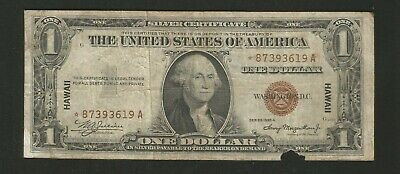 FR. 2300 One Dollar Series of 1935A Silver Certificate STAR Hawaii Brown Seal