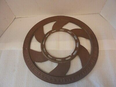 round cast iron furnace grate base piece adams company dubuque iowa industrial