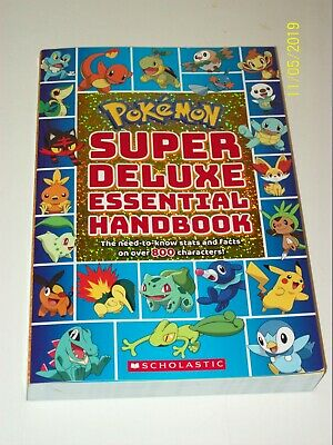 POKEMON: SUPER DELUXE Essential HANDBOOK The Need-To-Know STATS and FACTS ~ New