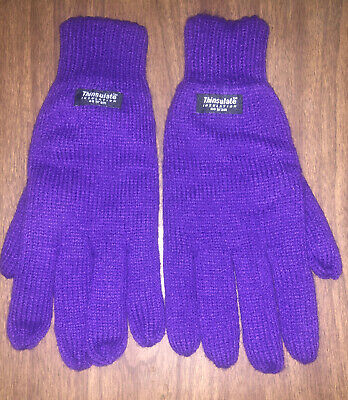 Thinsulate Insulation Fleece Lined Purple Glove 40 Gram #cassiescloset NWOT