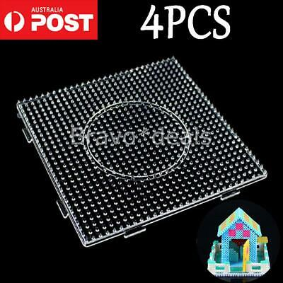1pc Large Pegboards for Perler Bead Hama Fuse Beads Clear Square Design Board