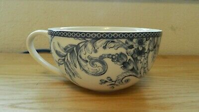 222 Fifth Adelaide Blue & White Handled Soup Mug With Handle