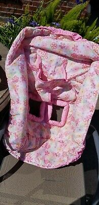 Seat Deluxe Plush Grocery Cart High Chair Cover Pink Print Girl