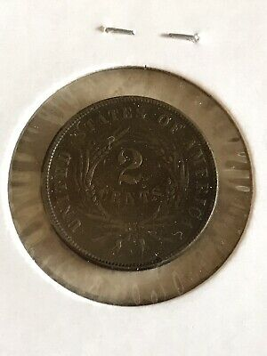 1866 Two Cent Piece - GREAT TYPE COIN