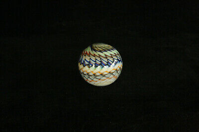 """VINTAGE CONTEMPORARY 1980s COLORFUL ART GLASS SWIRL PATTERN 1-3/4"""" DIA. MARBLE"""