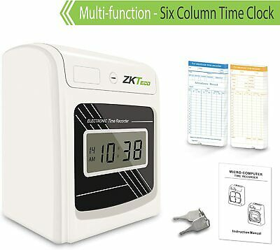Punch Time Clock Attendance Check in Time Stamp Machine for Employees
