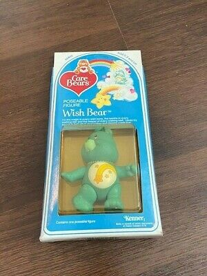 Vintage Sealed NIP 1980's Care Bears Wish Bear Poseable PVC Figure Toy