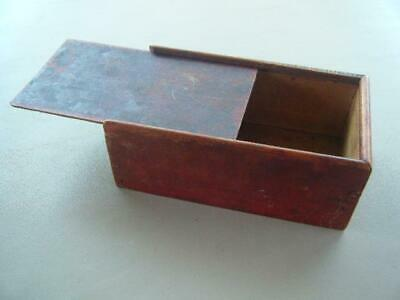 VINTAGE WOOD DOVETAIL BOX With SLIDING LID TRINKET STORAGE