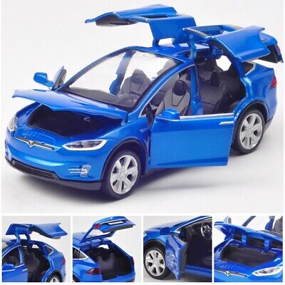1:32 Tesla Car Sound & Light Pull Back Car Collection Pull Back Vehicle Toy Gift