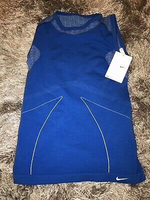 NWT NIKE Womens Small FIT DRY (Sphere Dry) Blue Training Tank Top