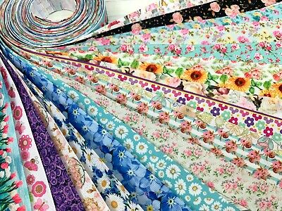 10 yards Flower Spring Floral Mix Design Grosgrain Ribbon USA Seller