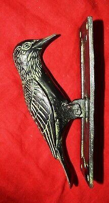 Brass Metal Bird Collection Doorbell Pileated Woodpecker Figure Door Knocker UR4