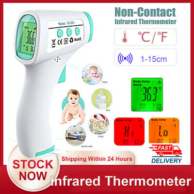 Non-Contact Infrared Thermometer Gun LCD Digital Forehead Fever Adults Kids Baby