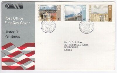 FDC Elizabeth II 1971 Ulster 71 Paintings
