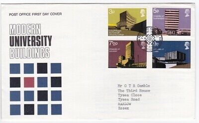 FDC Elizabeth II 1971 British Architecture (Modern University Buildings)