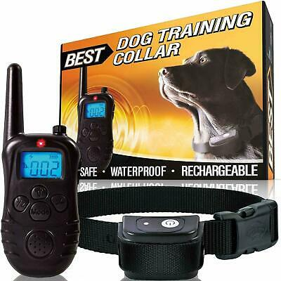 Dog Shock Training Collar Rechargeable Remote Control Waterproof Collar Receiver