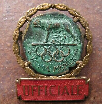 Rome 1960 Official / Ufficiale Olympic Badge