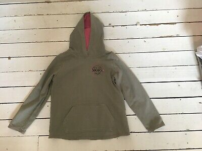 Peter Storm Green Girls Hoodie With Pink Hood Lining - Age 9-10
