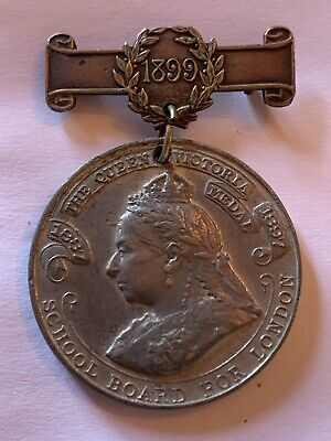 The Queen Victoria Medal School Board for London 1837 Punctual Attendance 1899