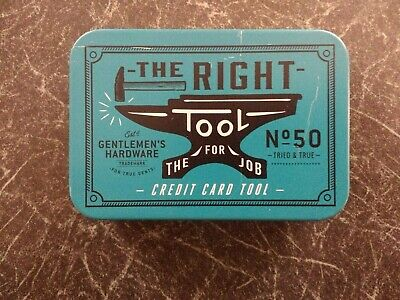 Stainless Steel  CREDIT CARD  Multi Tool from GENTLEMEN'S HARDWARE