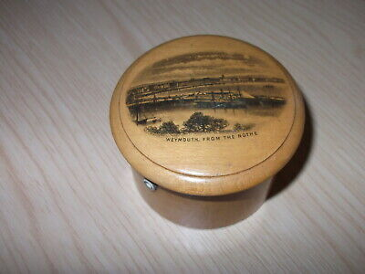 Mauchline Ware Thread box - Weymouth The Nothe image Dorset, Very Good Condition