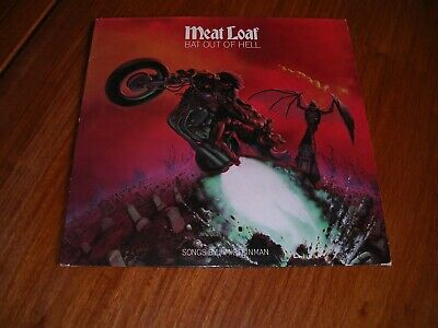 "MEAT LOAF ‎– BAT OUT OF HELL 12"" Vinyl Album LP. 1977 UK EPC82419 Lyric insert"