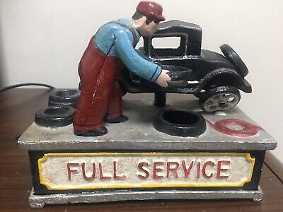 Cast Iron Reproduction Full Service Collectible Bank