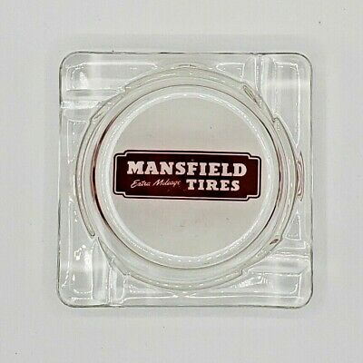 Vintage Mansfield Extra Mileage Tires Ashtray - Mansfield, OH USA