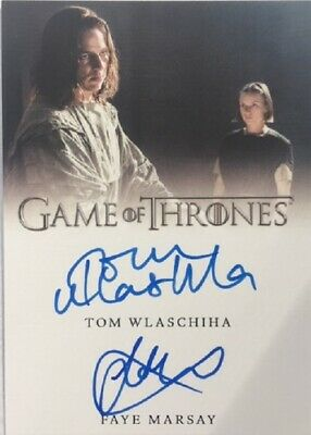 Tom Wlaschiha/Faye Marsay Dual Autograph from Game of Thrones Season 8