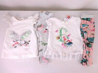 Baby Girls Ted Baker Outfit Bundle Age 18 - 24 Months & 2-3 Years Top & Leggings