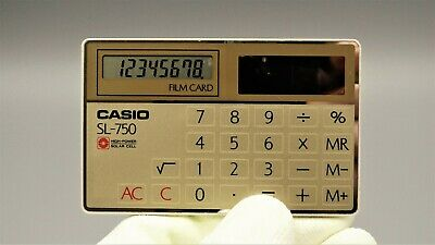 Calculadora Casio SL-750 film card Calculadora vintage, antigua año 1983
