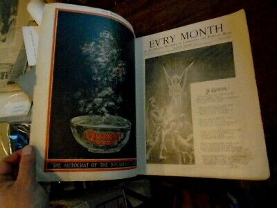1896 Christmas Issue of Ev'ry Month Great Cover & Quaker Oats Ad