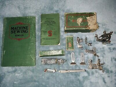 SINGER SEWING MACHINE Hardcover Book For Teachers of Home Economics 1923 + MISC.