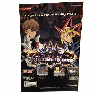 Yu-gi-oh The Falsebound Kingdom Video Game Advertisement Poster Gamecube
