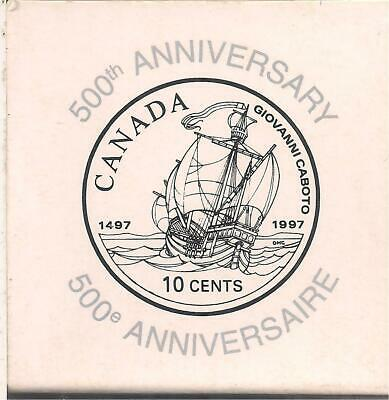 1997 Proof. Canada 10 Cents Silver Dime, First voyage of discovery by John Cabot