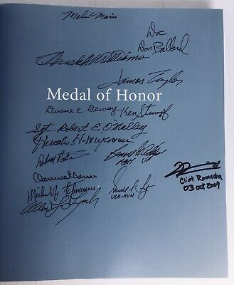 MEDAL OF HONOR signed x17 Congressional MOH CMOH Autographed Portraits Of Valor