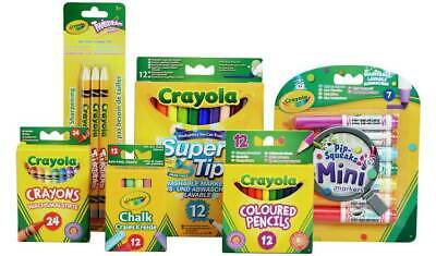 Crayola x 6 Packs, 70 Piece Stationery Set, Crayons,Chalk,Pencils,Felt Tips