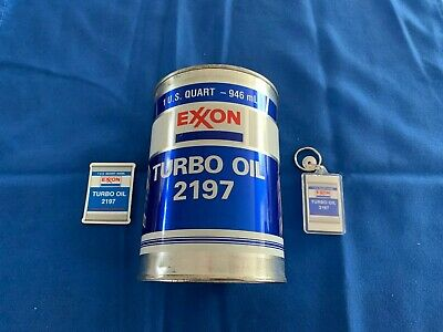 Exxon Turbo Oil 2197 Bank, Magnet And Keychain(3 Pieces)