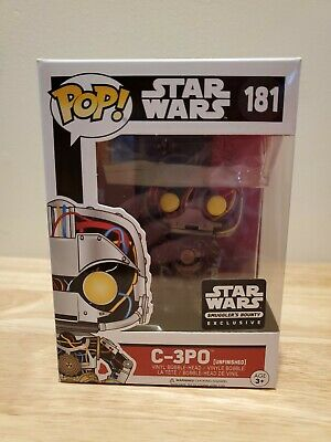 Funko Pop Star Wars C3PO Unfinished #181 Smugglers Bounty Exclusive
