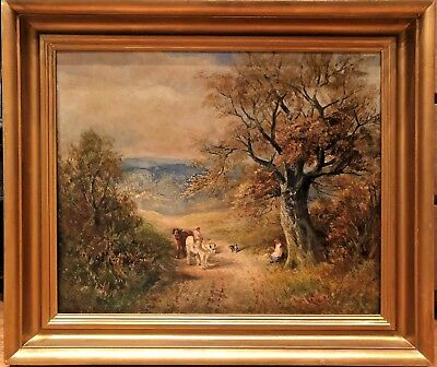 OLD MASTER LARGE IMPRESSIONIST OIL PAINTING Early 19th CENTURY English School