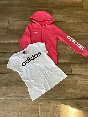 Girls Adidas Hoodie And T Shirt Age 11-12