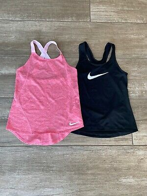 2 Girls Nike Fitness Running Tops Size Small (age 8-10)