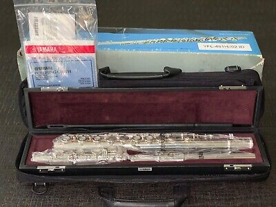 Yamaha YFL-481H Sterling Silver Intermediate Flute B-foot Japan *Clean& Serviced