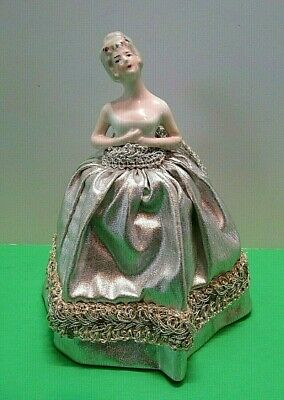 """Antique China Porcelain German 7"""" HALF DOLL ~  Noticeable Care ~ Free Shipping!"""