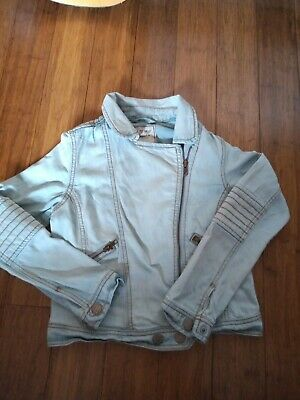 Next Girls Light weight  Blue Denim Summer Zip Up Jacket Age 11