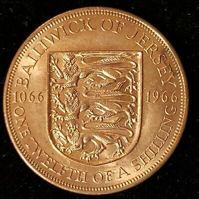 Jersey 1966 1/12th One Twelfth of a Shilling