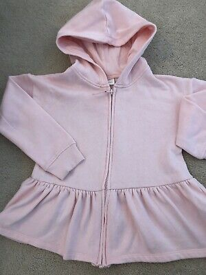 Girls Next Pink Peplum Zipped Hoodie Age 5-6