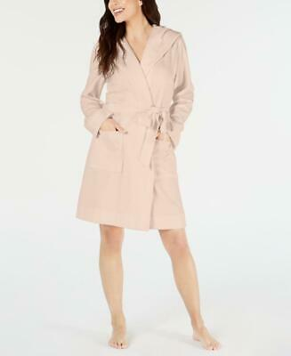 Charter Club Women Long Sleeve Knit Terry Cloth Hooded Robe Size L MSRP $49 D44