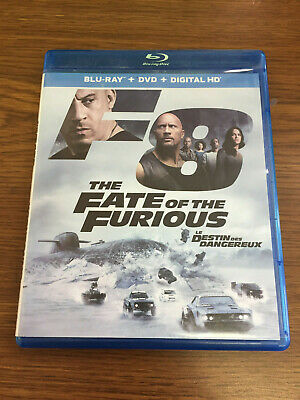 "The Fate of the Furious [Blu-ray] Vin Diesel Dwayne ""The Rock"" Johnson"